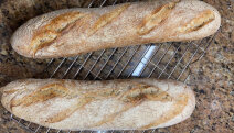 receta de baguette de masa madre de Miren Valle
