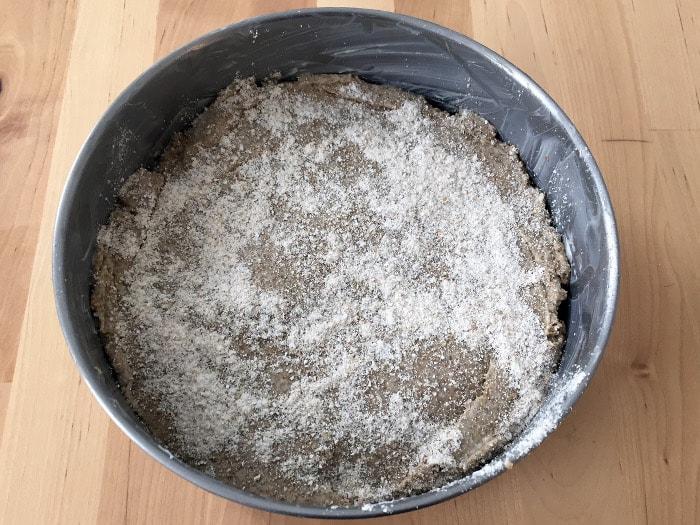masa de pan 100 % integral de centeno