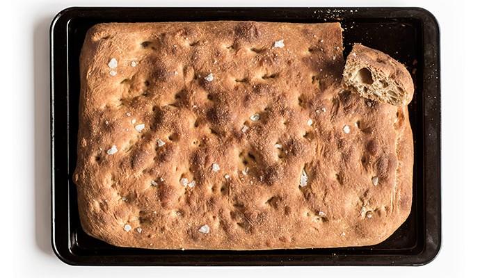 Focaccia, receta de Dan Lepard