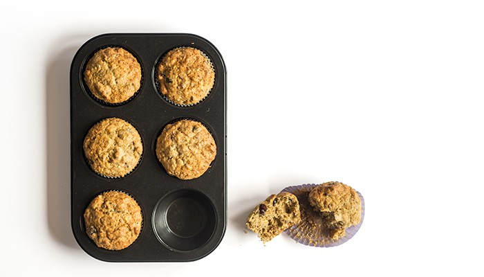 Muffins de centeno y espelta