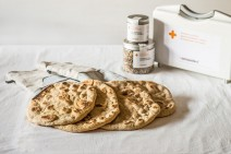 Receta de pan naan en sarten