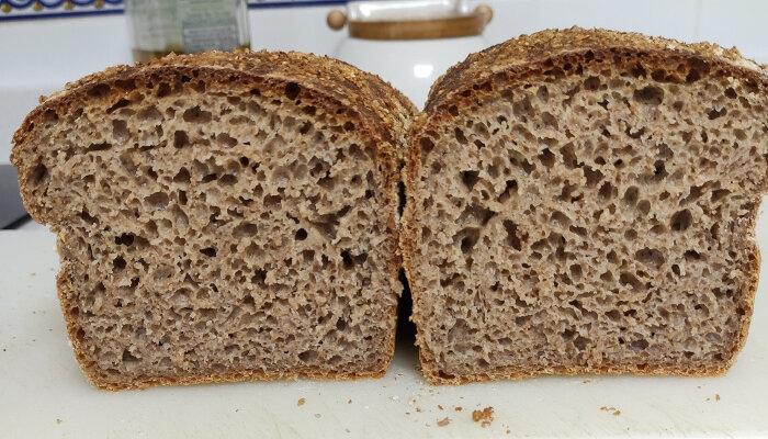 Receta de pan integral de masa madre de Manuel Rodríguez