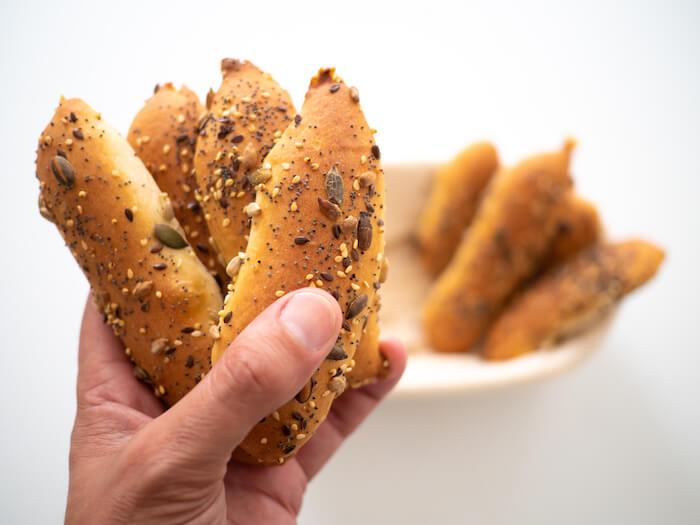 pan de cristal con manga pastelera