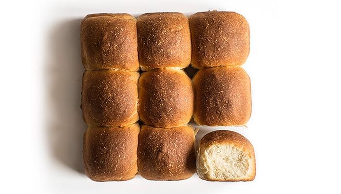 pav o pão, panecillo típico de Mumbai