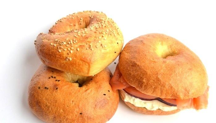Receta de bagels americanos