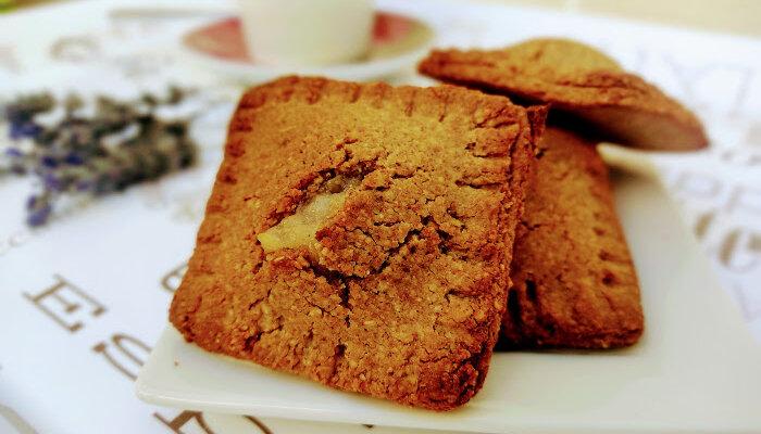 Receta de galletas rellenas de pera
