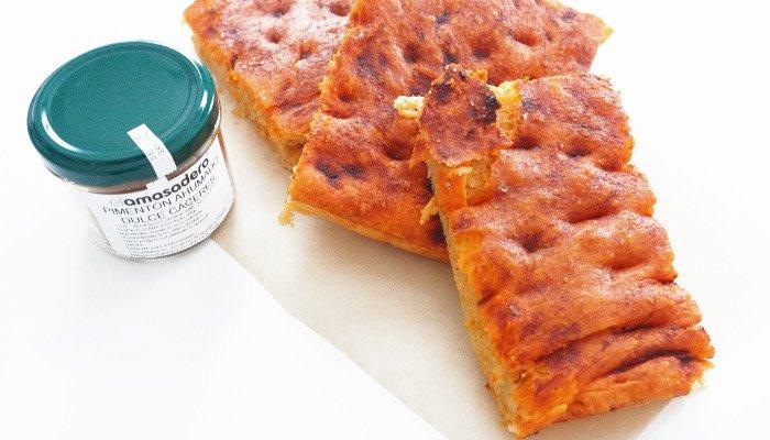 Receta de torta de pimiento molío murciana